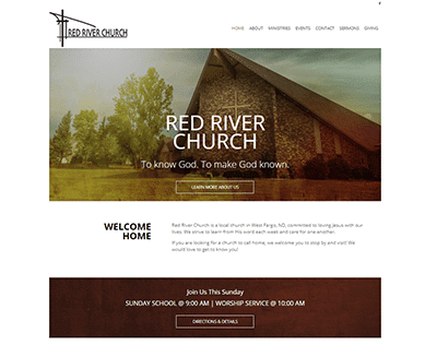 Red River Church website screenshot