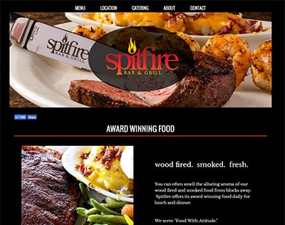Spitfire Bar & Grill website