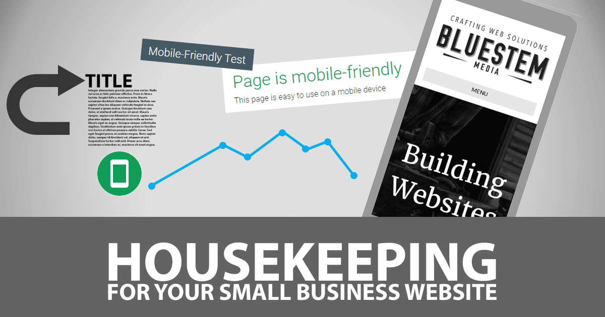 Housekeeping for Your Small Business Website