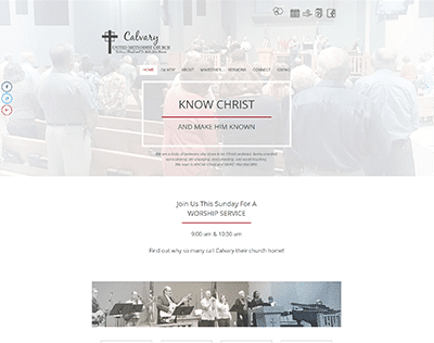 Church web design for Calvary United Methodist Church