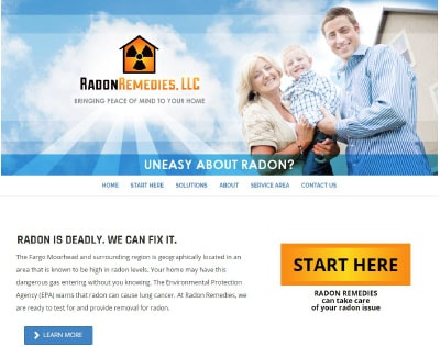 Radon Remedies of Fargo Website Design