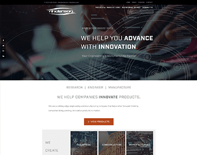 Anderson Industries Website Design
