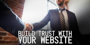 Why a Great Website Builds Trust with Your Customer - two men shaking hands