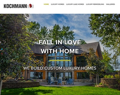 Website portfolio - Kochmann Brothers Homes