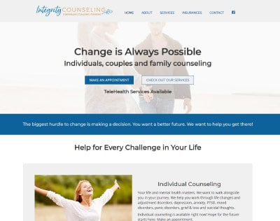Integrity Counseling website design thumbnail